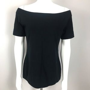 J Crew Off The Shoulder Top Black Large